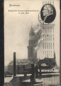 Hamburg Brand der Michaeliskirche  8. Juli 1906 / Hamburg /Hamburg Stadtkreis