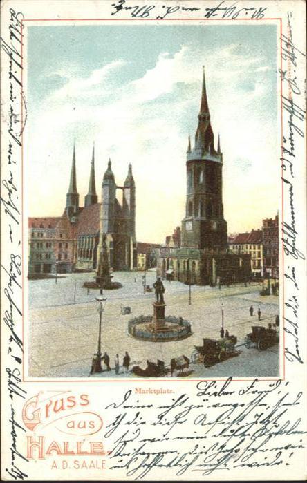 Halle Saale Marktplatz / Halle /Halle Saale Stadtkreis