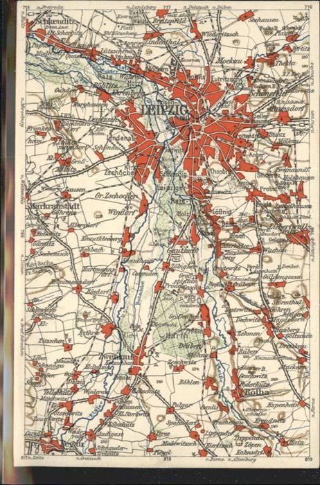 Leipzig Karte / Leipzig /Leipzig Stadtkreis