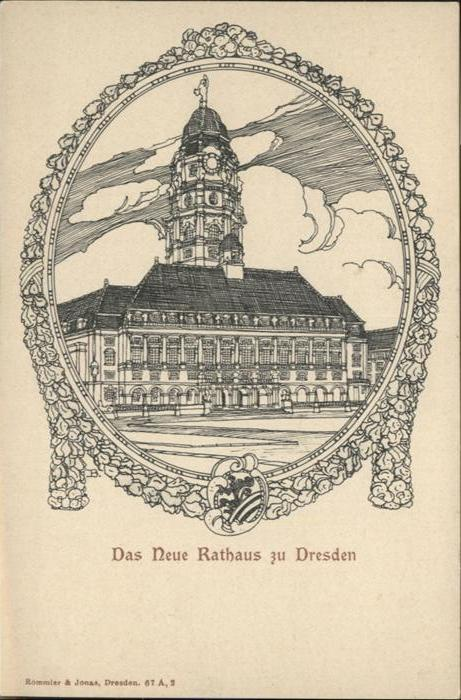 Dresden Rathaus / Dresden Elbe /Dresden Stadtkreis
