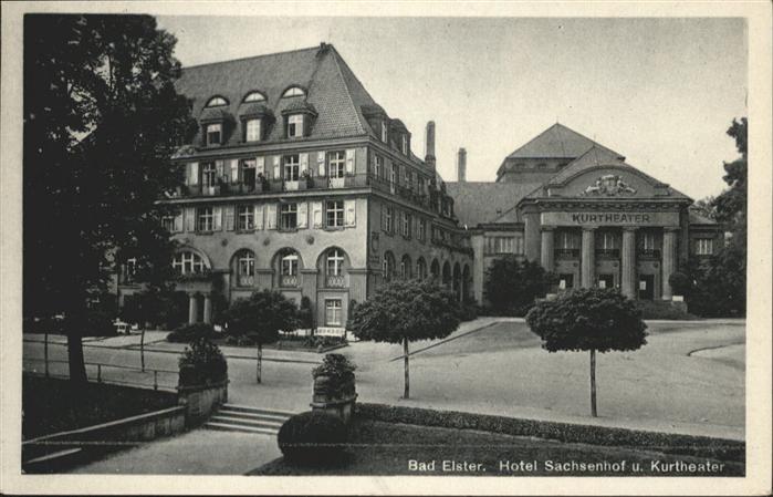 Bad Elster Hotel Sachsenhof Kurtheater / Bad Elster /Vogtlandkreis LKR