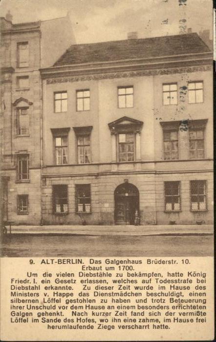Berlin Alt-Berlin Galgenhaus (erb.1700) / Berlin /Berlin Stadtkreis