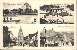 Ingolstadt Donau Schloss, Pioniere, Kreuztor, Pfeifturm / Ingolstadt /Ingolstadt Stadtkreis