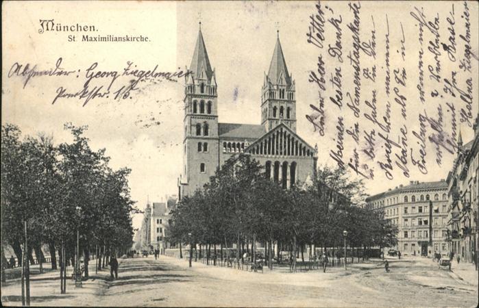 Muenchen St Maximilians Kirche  x