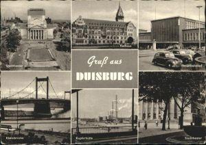 Duisburg Ruhr Duisburg Stadttheater Rathaus Bahnhof Kupferhuette Rheinbruecke x / Duisburg /Duisburg Stadtkreis