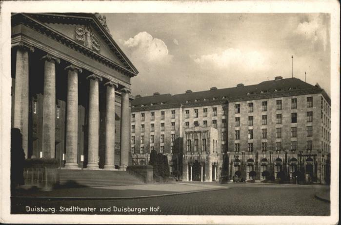 Duisburg Ruhr Duisburg Stadttheater Duisburger Hof x / Duisburg /Duisburg Stadtkreis