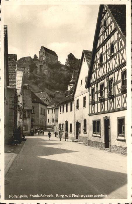Pottenstein Oberfranken Burg Fischergasse / Pottenstein /Bayreuth LKR