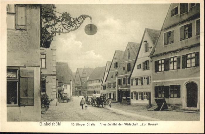 Dinkelsbuehl Noerdlingerstrasse Wirtschaft Krone Kutsche