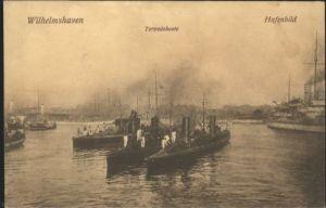 Wilhelmshaven Torpedoboote Hafenbild *