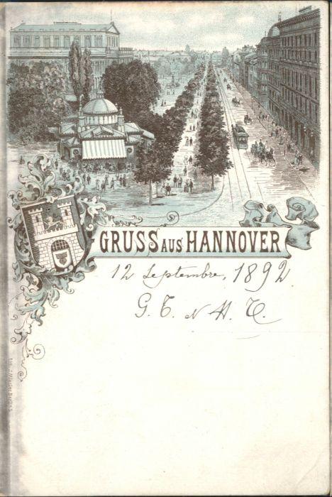 Hannover Strassenbahn Kutsche *