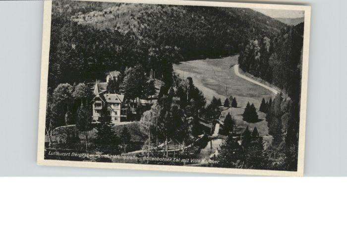 Bad Bergzabern Weinstrasse Boellenborner Tal Villa Karcher *