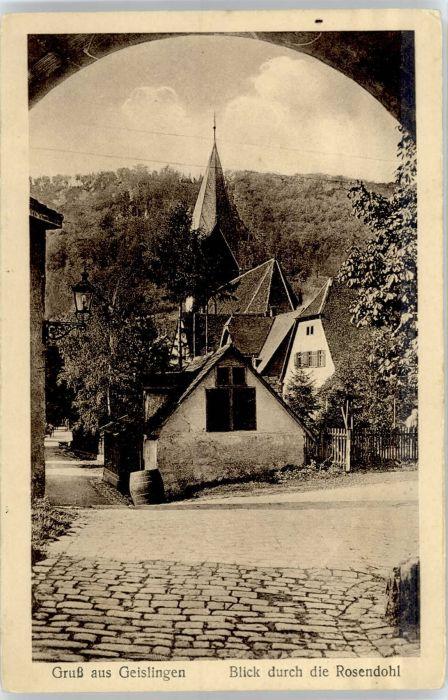Geislingen Steige Rosendohl *