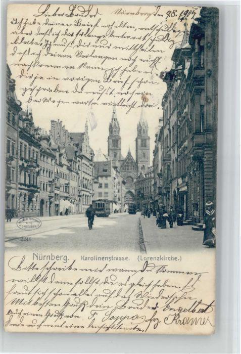 Nuernberg Karolinenstrasse Lorenzkirche x