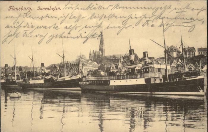 Flensburg Innenhafen Schiffe x