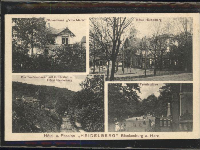 Blankenburg Harz Hotel Heidelberg Tennisplatz Dependence Villa Maria