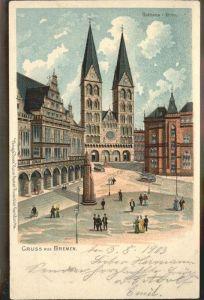 Bremen Rathaus Dom und Boerse Tivoli Theater  Kat. Bremen