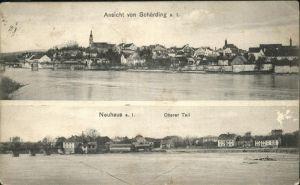 Schaerding Panorama von Schaerding und Neuhaus  Kat. Schaerding