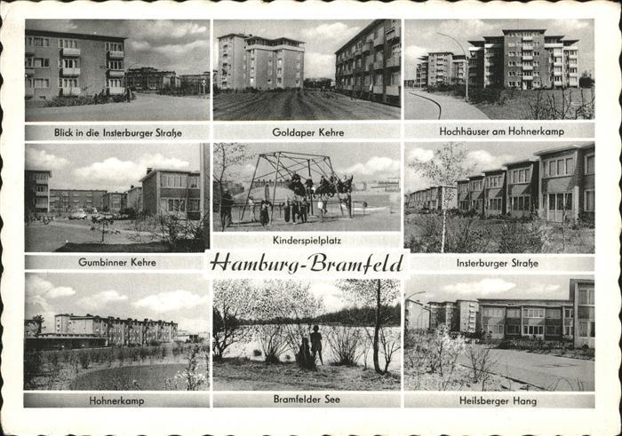 ak hamburg wandsbek bramfeld gartenstadt hohnerkamp hochhaus nr 1565608 oldthing. Black Bedroom Furniture Sets. Home Design Ideas