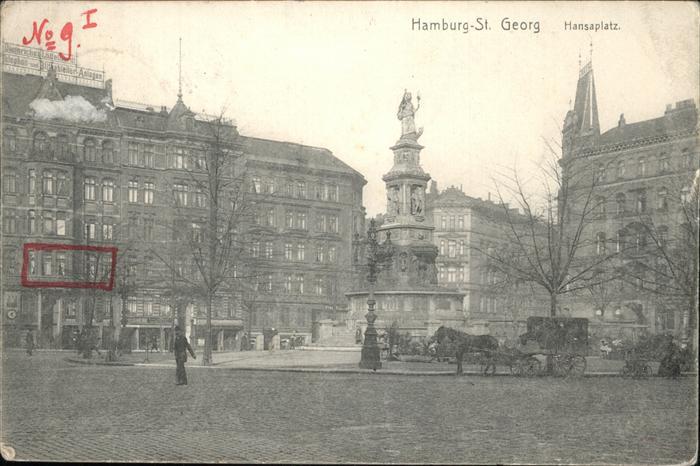Hamburg St. Georg Hansaplatz Kat. Hamburg