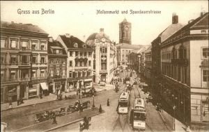 Berlin Molkenmarkt Spandauerstrasse Strassenbahnen Kat. Berlin
