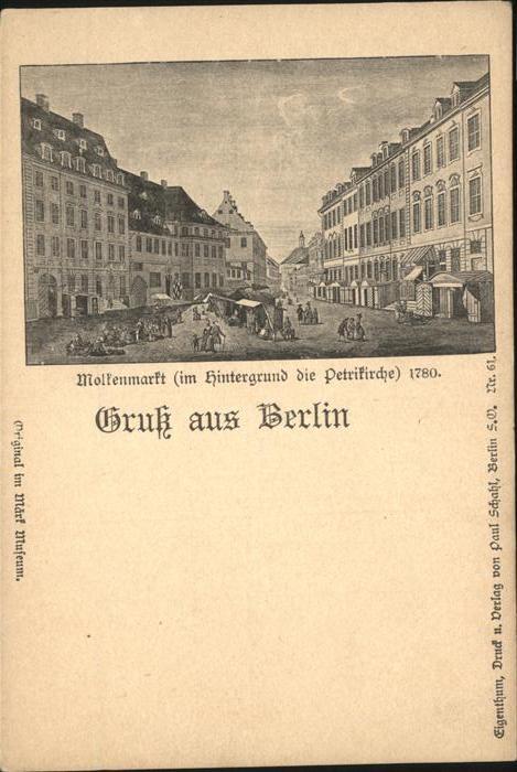 Berlin Molkenmarkt Petrikirche 1780 Kat. Berlin