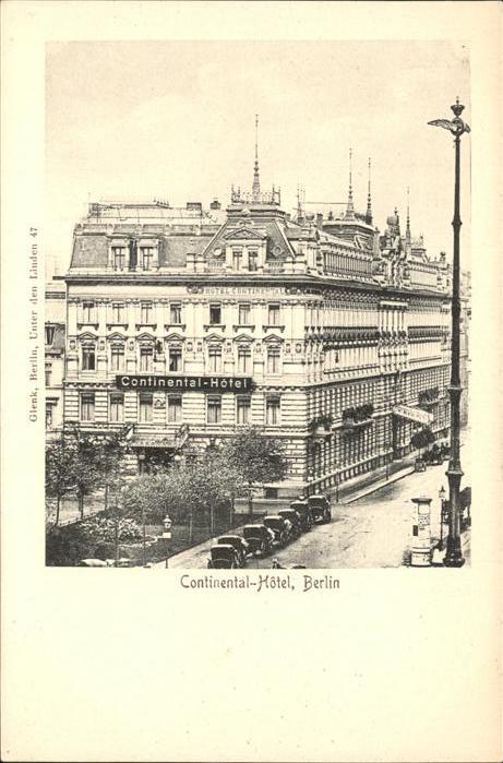 Berlin Continental-Hotel Kat. Berlin