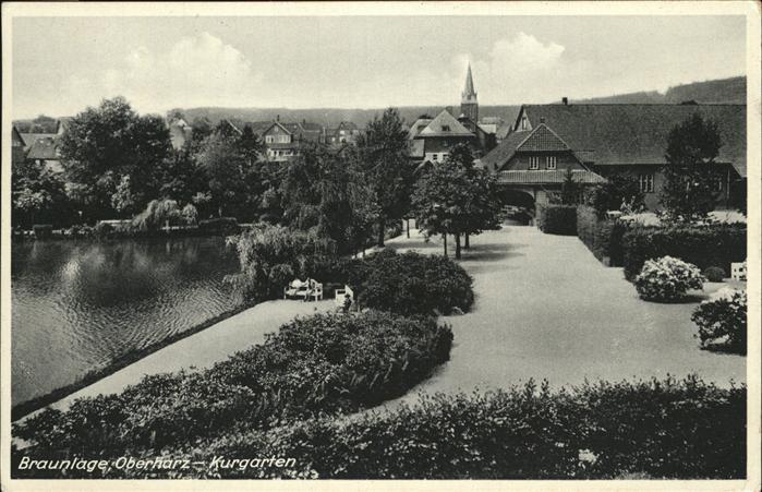 Braunlage Oberharz Kurgarten Kat. Braunlage