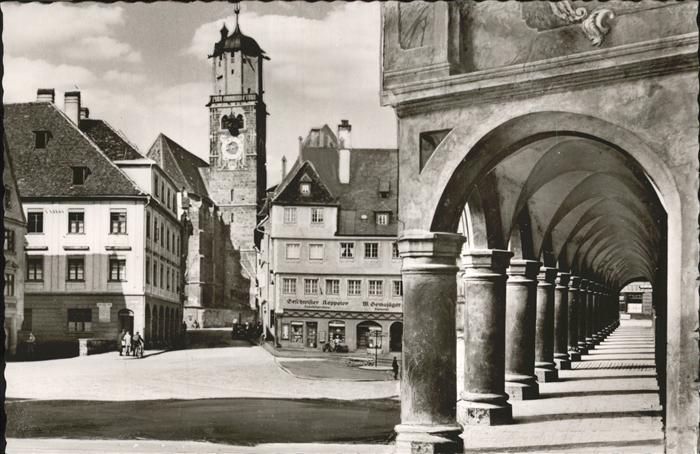 Memmingen Marktplatz St Martins Kirche Kat. Memmingen
