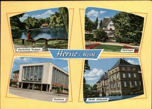 Herne Westfalen Stadtbad Schloss Strunkede Parkhaus / Herne /Herne Stadtkreis