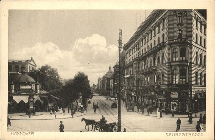 Hannover Georgstrasse Kutsche  Kat. Hannover