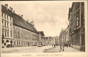 Augsburg Maximilianstr. Fuggerhaus Strassenbahn Kat. Augsburg