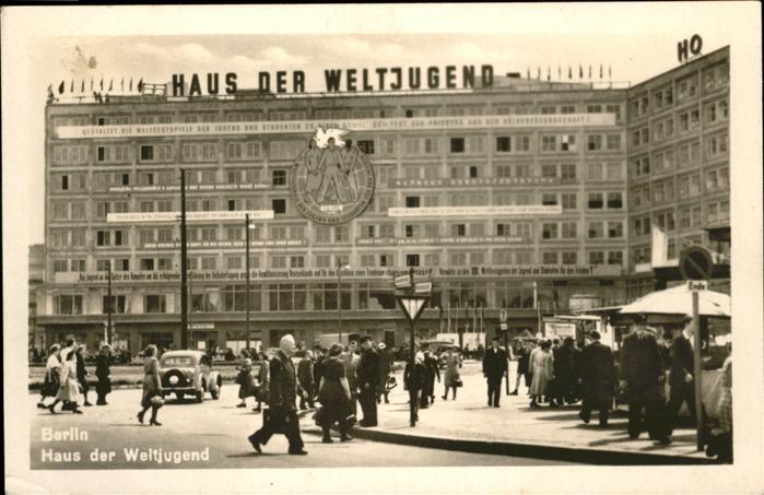 Berlin Haus der Weltjugend Kat. Berlin
