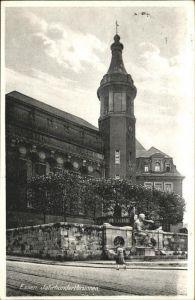Essen Ruhr Jahrhundertbrunnen Denkmal Frau Kat. Essen