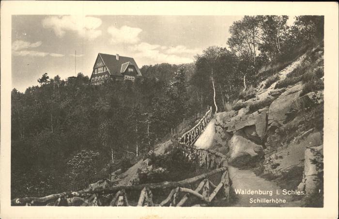 Waldenburg Schlesien Schillerhoehe Kat. Walbrzych