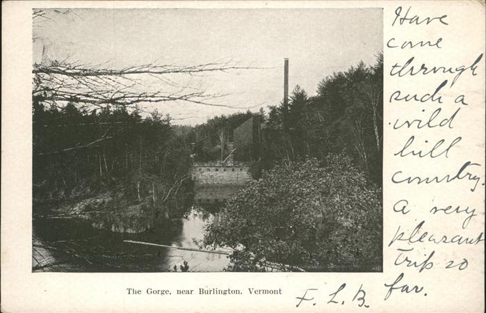 Burlington Vermont The Gorge  Kat. Burlington
