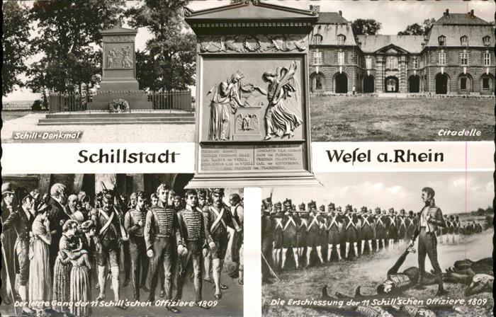 Wesel Rhein Schill-Denkmal Citadelle  / Wesel /Wesel LKR
