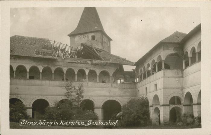 Strassburg Kaernten Schlosshof Kat. Strassburg
