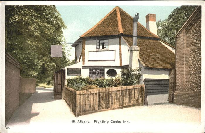 St Albans Fighting Cocks Inn. Kat. St Albans