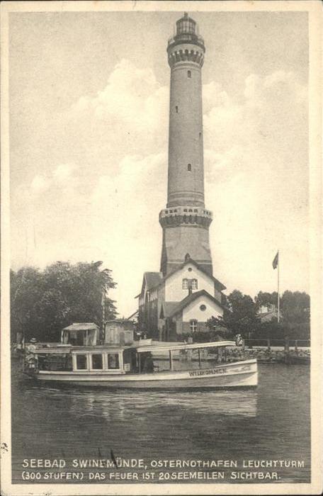 Swinemuende Ostseebad Westpommern Osternothafen Leuchtturm Kat. Swinoujscie