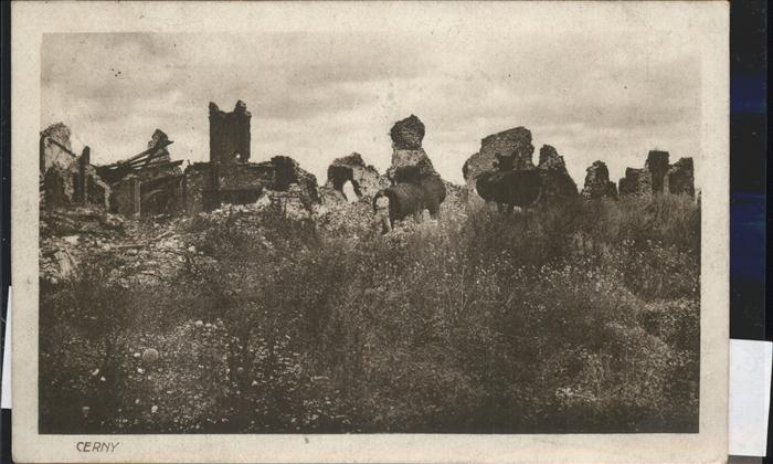 Cerny en Laonnois Truemmer Feldpost Kat. Cerny en Laonnois