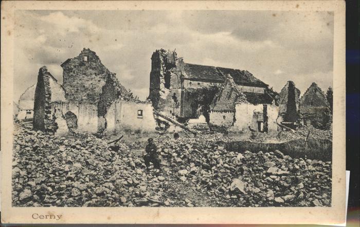 Cerny en Laonnois Teilansicht Truemmer Feldpost Kat. Cerny en Laonnois