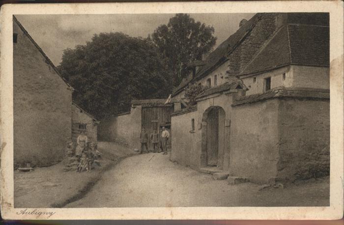 Aubigny en Laonnois Strassenpartie Feldpost Kat. Aubigny en Laonnois