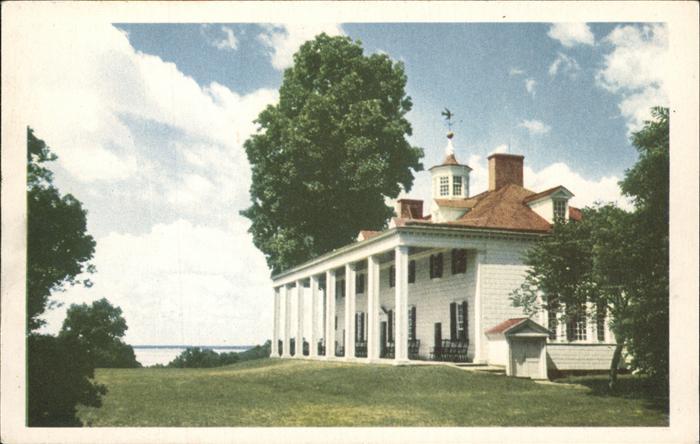 Mount Vernon Washington The Mount Vernon Mansion Kat. Mount Vernon