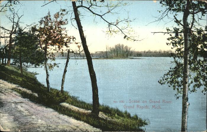 Grand Rapids Michigan Scene on Grand River Kat. Grand Rapids