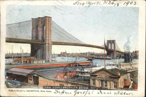 New York City Brooklyn Bridge / New York /