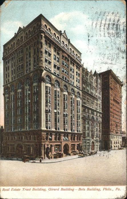 Philadelphia Pennsylvania Real Estate Trust Building Girard Building Kat. Philadelphia