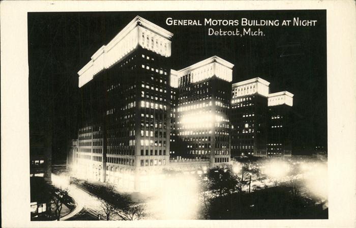 Detroit Michigan General Motors Building Kat. Detroit