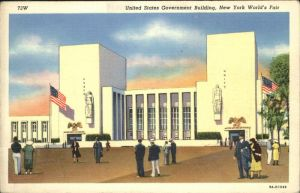 New York City United States Government Building   New York Worlds Fair / New York /