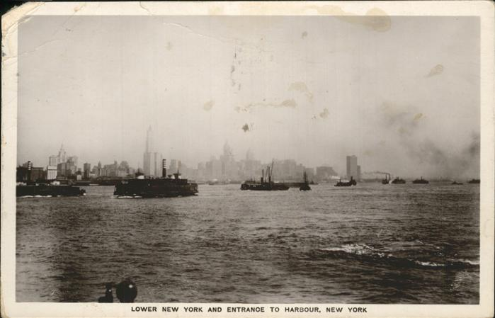 New York City Lower New York and Entrance to Harbour / New York /