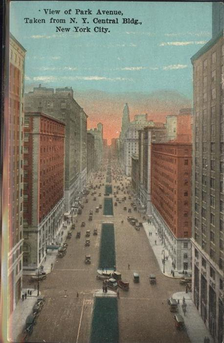 New York City View of Park Ave   Taken from NY Central Bldg / New York /